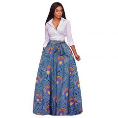 Print Chiffon High Waist Party Boho Maxi Long Skirt Big Dress